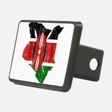 Kenya Flag And Map Hitch Cover
