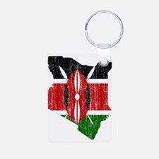 Kenya Flag And Map Keychains