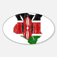 Kenya Flag And Map Decal