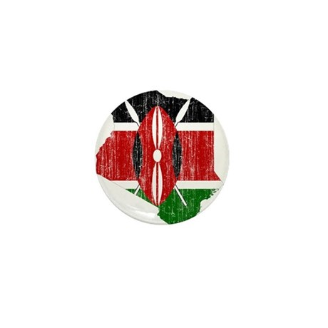 Kenya Flag And Map Mini Button
