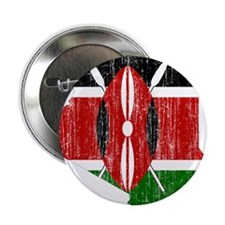 """Kenya Flag And Map 2.25"""" Button (10 pack)"""