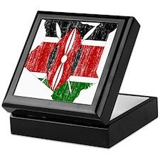 Kenya Flag And Map Keepsake Box