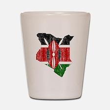 Kenya Flag And Map Shot Glass