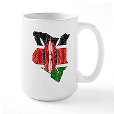 Kenya Flag And Map Mug