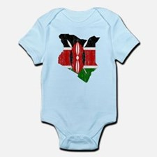 Kenya Flag And Map Infant Bodysuit