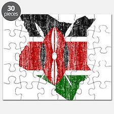 Kenya Flag And Map Puzzle