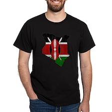 Kenya Flag And Map T-Shirt
