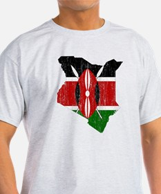 Kenya Flag And Map T-Shirt