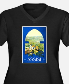 Assisi Italy Travel Poster 1 Women's Plus Size V-N