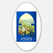 Assisi Italy Travel Poster 1 Decal