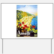 Amalfi Italy Travel Poster 1 Yard Sign