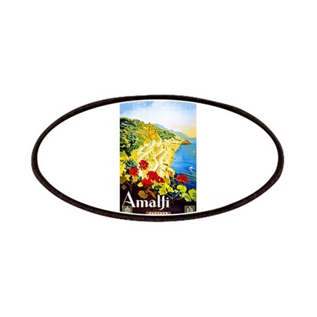 Amalfi Italy Travel Poster 1 Patches