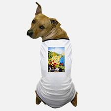 Amalfi Italy Travel Poster 1 Dog T-Shirt