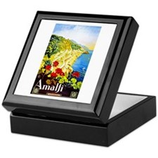 Amalfi Italy Travel Poster 1 Keepsake Box