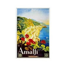 Amalfi Italy Travel Poster 1 Rectangle Magnet