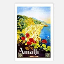 Amalfi Italy Travel Poster 1 Postcards (Package of