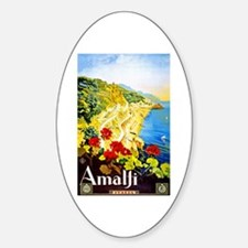 Amalfi Italy Travel Poster 1 Decal