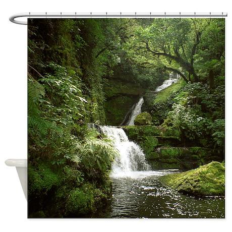 McLean Falls NZ Shower Curtain By SkyStudio NZ South