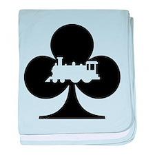 Train Club baby blanket