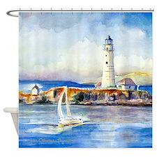 Boston Light Shower Curtain