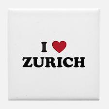 I Love Zurich Tile Coaster