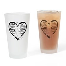 Words of Hope Lung Disease Drinking Glass