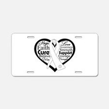 Words of Hope Lung Disease Aluminum License Plate