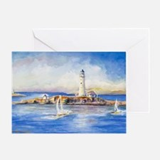 Boston Light Greeting Card