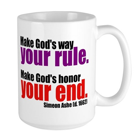 God's Way and God's Rule Large Mug