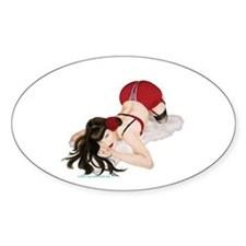 Rockabilly Pin Up Oval Decal