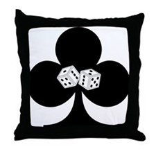 Dice Club Throw Pillow