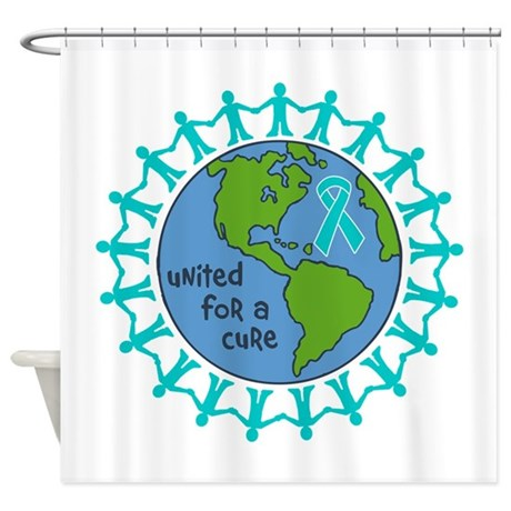 Ovarian Cancer United For A Cure Shower Curtain