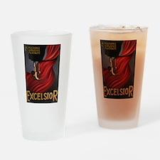 Vintage Excelsior Poster Drinking Glass