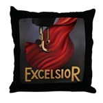 Vintage Excelsior Poster Throw Pillow