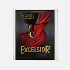 Vintage Excelsior Poster Throw Blanket