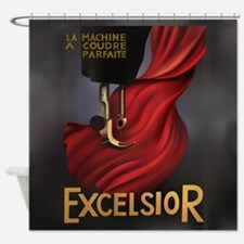 Vintage Excelsior Poster Shower Curtain
