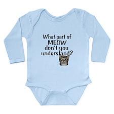 MEOW Long Sleeve Infant Bodysuit
