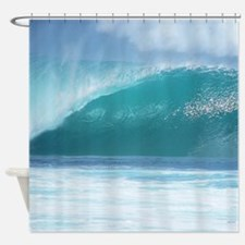 Pipeline Surf Shower Curtain