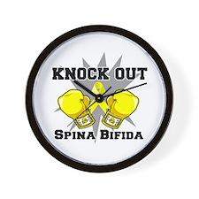 Knock Out Spina Bifida Wall Clock
