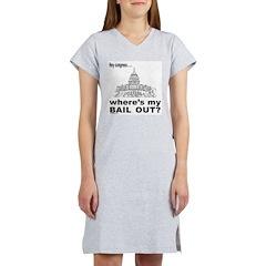 CONGRESS/BAIL OUT Women's Nightshirt
