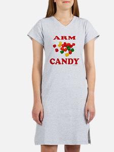 ArmCandyBlkTee.png Women's Nightshirt