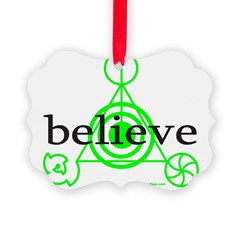 ALIEN CROP CIRCLE Ornament