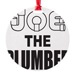 JOE THE PLUMBER Round Ornament