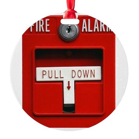 FIRE ALARM Round Ornament