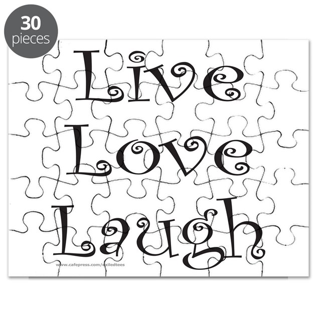 LIVE LOVE LAUGH Puzzle by exiledtees