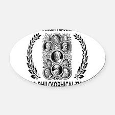 PHILOSOPHY Oval Car Magnet
