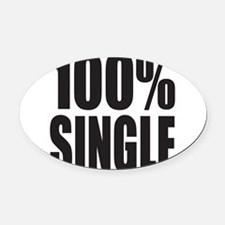 100% SINGLE Oval Car Magnet