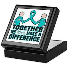 Ovarian Cancer Together Keepsake Box