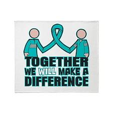 Ovarian Cancer Together Throw Blanket