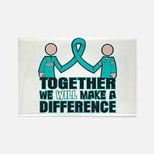 Ovarian Cancer Together Rectangle Magnet